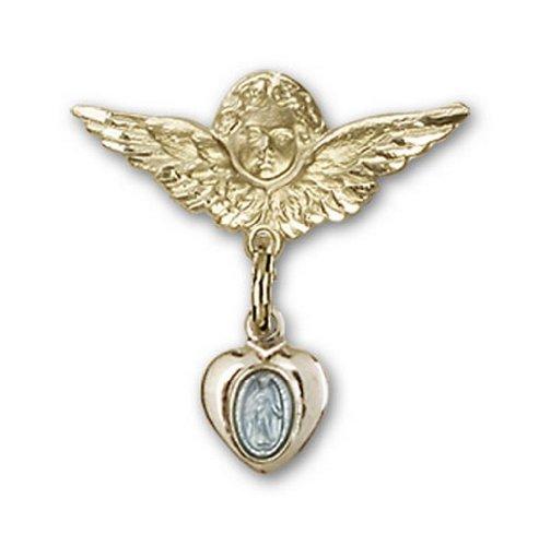 Icecarats Créatrice De Bijoux Plaque Or Sur Ange Rempli Broches Badge Bleu Charme Miraculeuse D'Or D'Argent