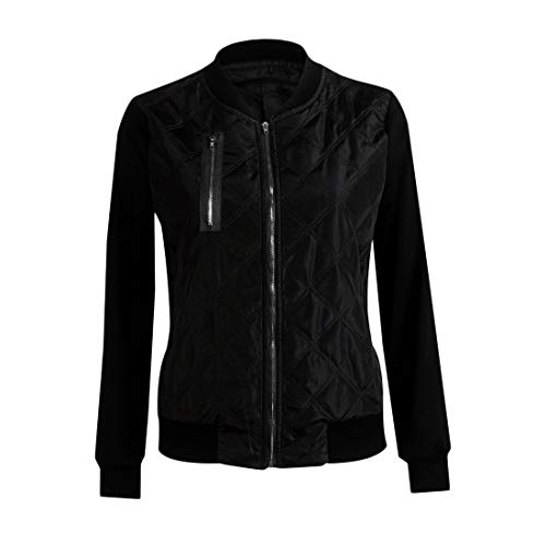 Longues Vintage en Tops Manteau Manteau Automne Hiver Bomber Biker Rembourr Femmes Outwear Zipper Dames Veste Manches Veste Mode Coton npX4qfn