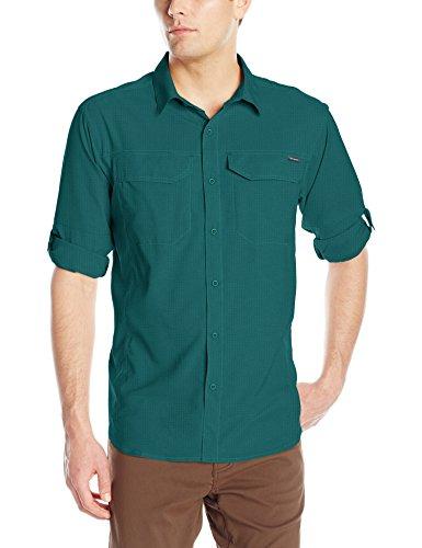 Columbia Mens Silver Ridge Lite Long Sleeve Shirt, Poseidon, Medium
