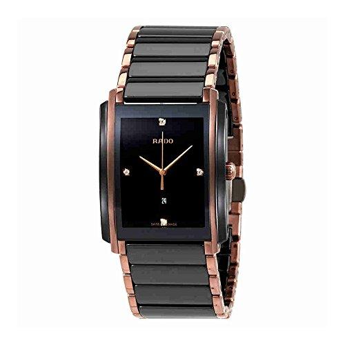 Rado Integral Jubile Two-tone Black Ceramic and Rose Gold Mens Watch - R20207712