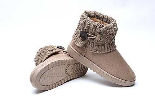 Warm 2 Boots Wicky Thicken LS Short Beige Snow Winter Style p885RwHq