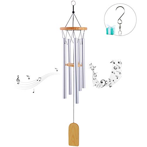 (Wpky Beautiful Tune Wind Chime, Elegant Metal Design Musical Windchime with Sweet Sound, Perfect Decor for Garden, Patio, Balcony Outdoor & Indoor)