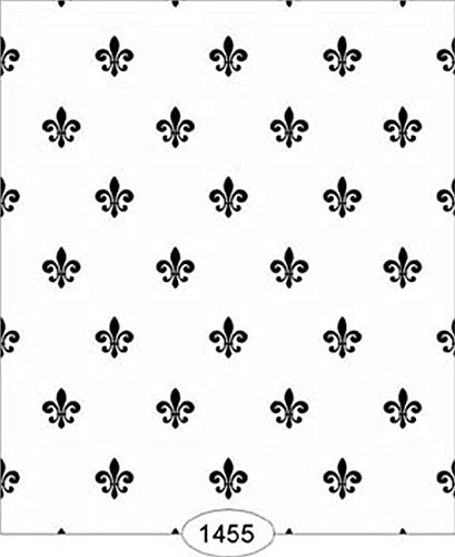 Amazoncom Dollhouse Wallpaper Princess Fleur De Lis Black