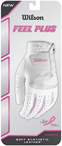 WILSON Damen Golf Handschuh Feel Plus LLH, Weiß, M, WGJA00770M
