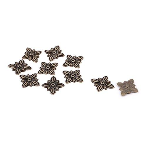 (uxcell 30mmx27mm Flower Pushpin Decor Tack Drawing Pin Square Nailhead Bronze Tone 10pcs)