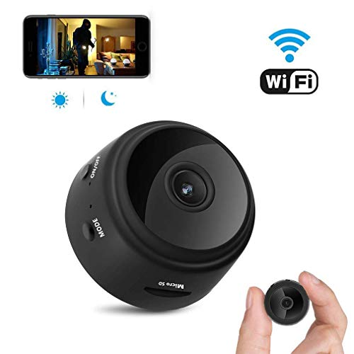 Spy Camera, Hidden Carema, Wireless WiFi Camera, HD 1080P Mini Camera Portable Home Security Cameras Covert Nanny Cam Indoor Video Recorder Small Camcorder with Motion ActivatedNight ()