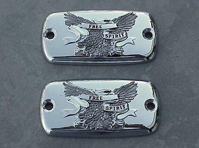 i5 Chrome Eagle Fluid Caps for Yamaha Royal Star 1996-2013. ()