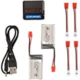 XCSOURCE 2pcs 3.7V 500mAh Battery + 4 Ports Li-po Battery USB Charger for Syma X5HC X5HW Quadcopter Drone BC705