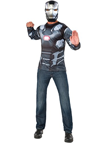 Rubie's Men's Captain America: Civil War Machine Long Sleeve Costume Top, Standard