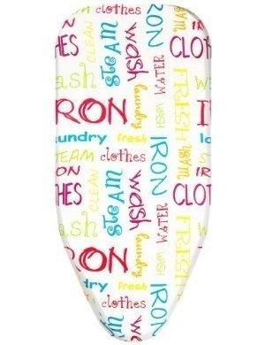 Bonita BC08-80BT Ironing Board Cover with Felt, Bright Text, Medium