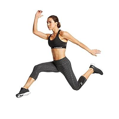 Mission Women's VaporActive System Mid-Rise Capri Leggings, Moonless Night Geo, Medium: Clothing