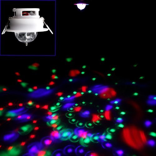 SBX 3W RGB Ceiling Stage Light Full Color LED Voice-activated Rotating Ceiling Lamps Spot DJ Disco Crystal Bulb Lamp