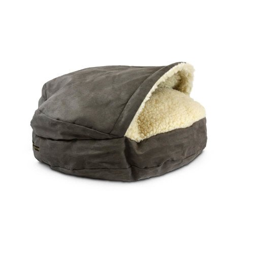Snoozer Pet Products - Luxury Cozy Cave Dog Bed with Microsuede | Large - Dark Chocolate (Cozy Cave)