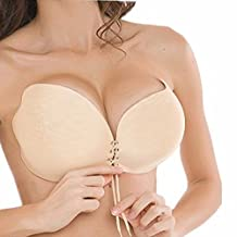 Womens Self Adhesive Silicone Invisible Butterfly Backless Strapless Bra