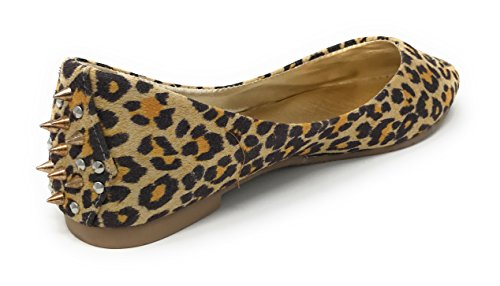 Rosa Etikett Kvinna Leopardmönster Dubbade Balett Platt Leopard