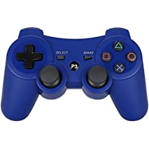 PS3 Controller Wireless Dualshock3 - OUBANG PS3 Remote,Best DS3 Joystick Gift for kids Bluetooth Gaming Sixaxis Control Gamepad Game Accessories for PlayStation3 with Micro Cable(Blue)
