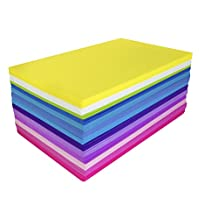 Fibre Craft Foam Sheets 5-1/2-Inch by 8-1/2-Inch 50-Pack, Bright Colors