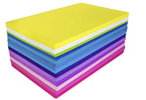 Foam-Sheets 5-1/2-Inch-by-8-1/2-Inch 50-Pack, Bright Colors