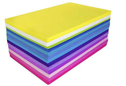 Fibre Craft Foam-Sheets 5-1/2-Inch-by-8-1/2-Inch 50-Pack, Bright Colors ()