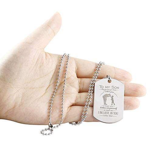 Son Dog Tag Gifts Necklace Father Pendant Military To Birthday Gift For