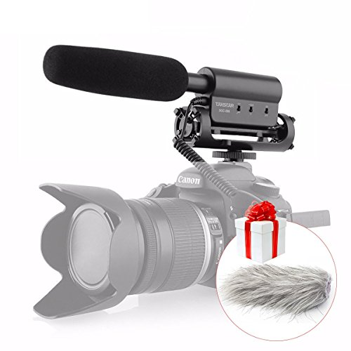 TAKSTAR SGC-598 Photography Interview Shotgun MIC Microphone for Nikon Canon DSLR Camera with Fur Wsheild (With Fur ()