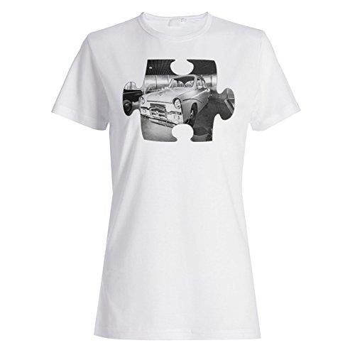 Puzzle Jahrgang alten schönen Auto Bild Damen T-shirt e562f