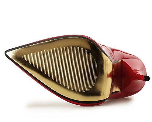 Tribunale Dito Scarpe Donna Festa 49 Per 40 Alto Tacchi Stiletto Pompe Red Vestito Chiuso EUR45 Taglia Appuntito Inteligente UK13 Nozze Piede Del Donna Nero wR7YXfqY