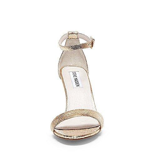 Steve Madden Women's Sillly Heeled Sandal, Rose Gold, 8.5 M - Gold Steve Madden