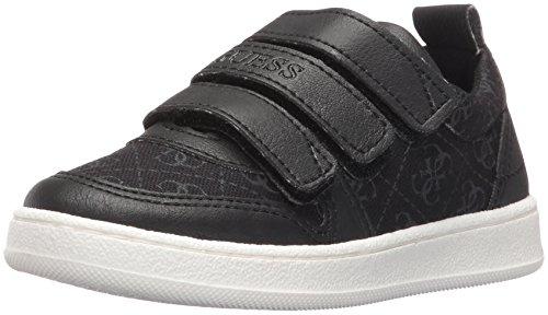 Guess Kids Shoes (GUESS Boys' Raffaele Sneaker, Jet Black/Frost Grey, 29 EU/11 M US Little Kid)