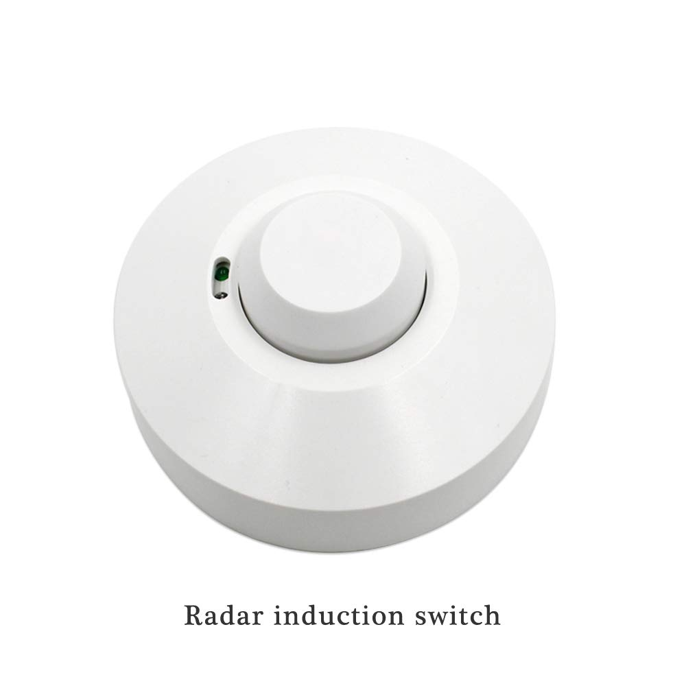 Amazon.com : RUISI 360 degree Microwave Sensor Radar Light Control Switch power-saving Ceiling wall Mounted Adjustable Smart Motion Sensor Light Radar ...