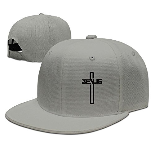 GJdd_diy Casual Men Women Christian Jesus Cross Flat Ajustable Snapback Cap by GJdd_diy