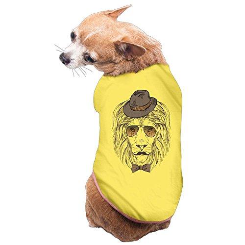 Dog Cat Pet Shirt Clothes Puppy Vest Soft Thin Lion Suit Tie Sunglasses 3 Sizes - Last Sunglasses Lion