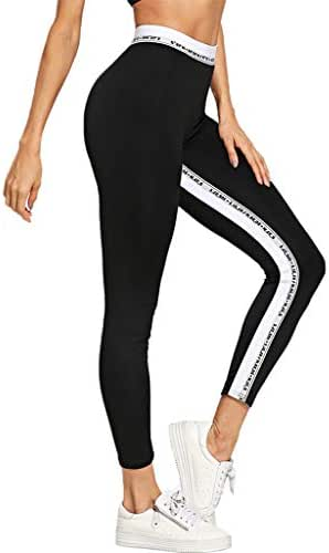 LUXISDE Yoga Pants for Women Strip Printing Breathable and Slim Hip Lifting Exercise Running Yoga Pant