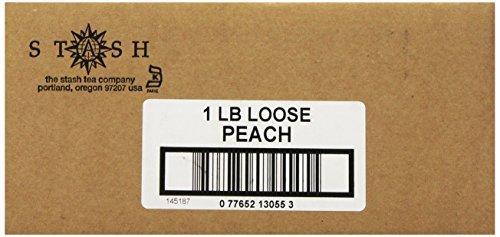 Stash Tea Peach Black Tea Loose Leaf Tea, 16 Ounce Pouch