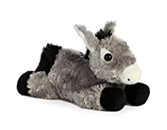 Mini Flopsies have all of your favorite animal friends in a convenient, cute, and collectible assortment!this adorable grey Donkey comes with an adorable look and cute ears!
