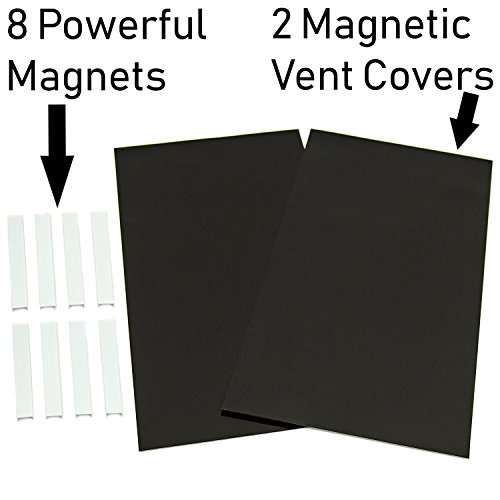 "Strong Magnetic Vent Covers for Ceiling and Wall Vents – 2 Pack 8""x15"" Includes 8 Additional Magnets for Guaranteed Holding Strength Can Be Cut Down to Smaller Sizes by The Better Home (Image #1)"