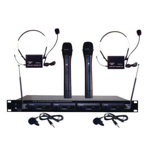 (PYLE PRO PDWM4300 4-Microphone VHF Wireless Rack Mount Microphone System)