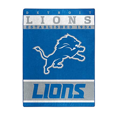 "The Northwest Company Officially Licensed NFL Detroit Lions 12th Man Plush Raschel Throw Blanket, 60"" x 80"""