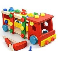 Oyuncaksesi, Tamamı ahşap Kamyon yap boz, Eğitici Oyuncak Ahşap Sök Tak Çak Çak Kamyon Çocuk Oyuncakları Eğlenceli Oyuncak Kamyon Tamir Seti, El becerisi arttırıcı, Dikkat dağıtımına katkılı, hiper aktif çocuklar için Ahşap oyun kiti