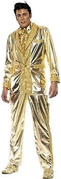 NET TOYS Traje de Elvis Disfraz Cantante Rey del Rock Vestuario ...