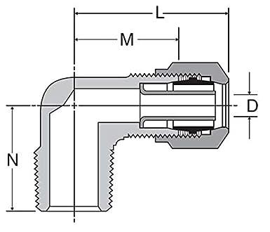 90Deg Male Elbow, 1/2 x 1/2 In: Industrial Pipe Fittings: Amazon com