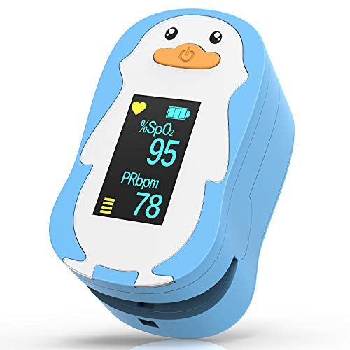 HOMIEE Blood Oxygen Saturation Monitor, Heart Rate Monitor Fitness Tracker with Carrying Bag, 2 AAA Batteries, Lanyard, Automatic Shutdown Fast Reading, Sport and Aviation Use Only