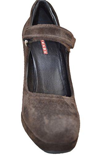 Vestir Mujer Ebano Marrón Para De Ante Prada Zapatos OREwqp