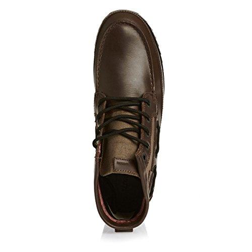 Brown Mid Dark 6 Lacoste Sauville Stiefel PwqOHH