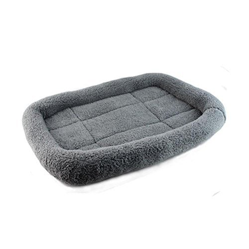Premium Plush Breathable Pet Bed, Kennels and Pet Houses with Bolstered Rim for Maximum Comfort(L, Gray) Review