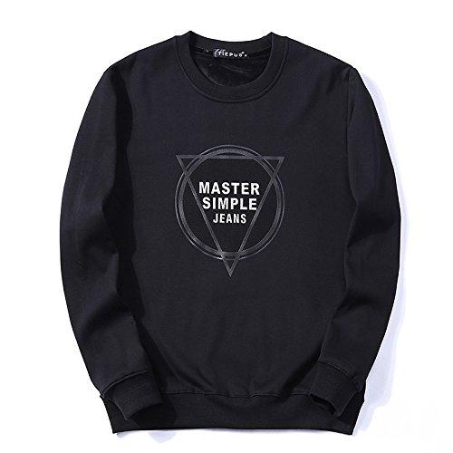 Lisux männer - Winter Pullover Kaschmirpullover mit männer - Casual Mode Pullover - Bewegung,schwarz,m