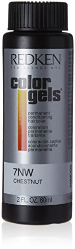 Redken Color Gels Permanent Conditioning Hair Color for Unisex, 7NW Chestnut, 2 Ounce