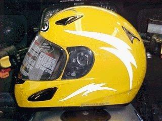 Amazoncom Reflective Motorcycle Helmet Decal Kit Lightning - Reflective motorcycle helmet decals