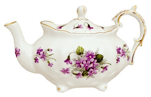 Berta Hedstrom Violets Victorian Teapot by Heirloom - 6 Cup (Violets Teapot compare prices)