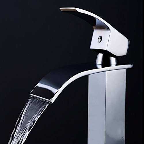 NEW Waterfall Flow Chrome Kitchen Bathroom Sink Faucet Vessel One Hole/Handle Mixer Tap! #231 chic